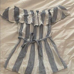 striped LF romper